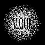 Flour in the form of white powder vector illustration