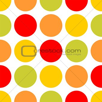 Tile vector pattern with dots on white background