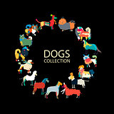 Dogs collection, sketch for your design