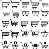 Black carts -  icons.