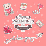 St. Valentines card template.