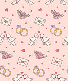 Wedding objects seamless pattern.