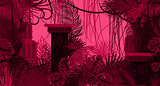 Pink dense foliage exotic nature background.
