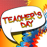 Teacher's day - Comic book style text.