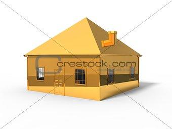 3d illustration of symbolic house.