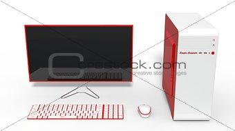 3d illustration of conceptual computer design.