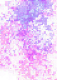 Vector illustration with halftone pattern. bstract pink vector background.