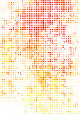Vector illustration with halftone pattern. bstract red vector background.