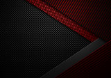 Abstract red black carbon fiber textured material design