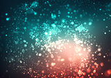 Abstract background with blurred glitter color bokeh lights