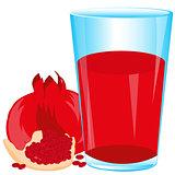 Juice from fruit garnet