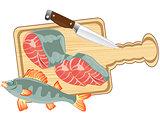 Fish on kitchen