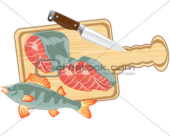 Fish on kitchen