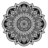 Mandala design, Mehndi, Indian Henna tattoo round pattern or background