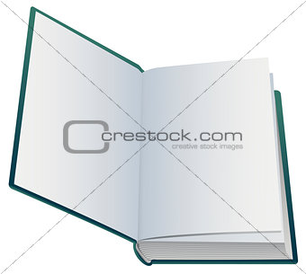 First blank page of open book