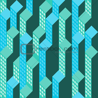Top view on blue green blocks vector background