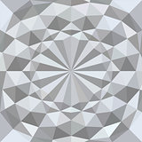 White 3d geometric texture background. Vector.