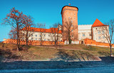 Wawel castle landmark in Krakow old town