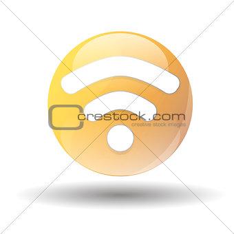 black wifi icon on a white background