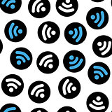 Pattern depicting characters Wi-Fi