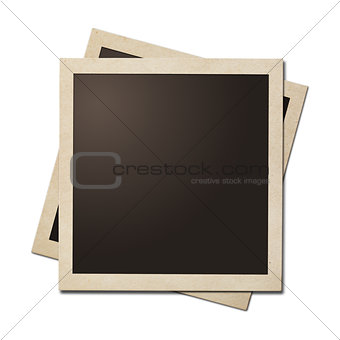 Old instant photo simple frames isolated. Clipping path without shadows is included.