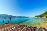 Garda Lake with small Pier - Italy