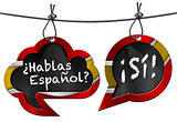 Hablas Espanol - Two Speech Bubbles