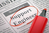 Job Opening Support Engineer. 3D.