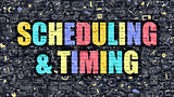 Scheduling and Timing in Multicolor. Doodle Design.