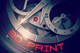 3D Print on Luxury Men Watch Mechanism. 3D.