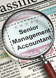 Now Hiring Senior Management Accountant. 3D.