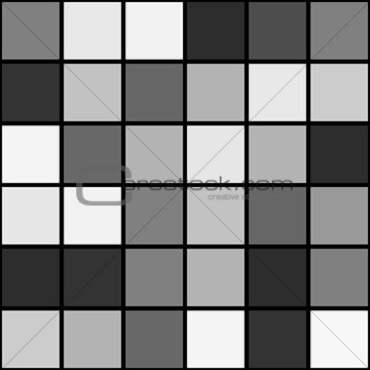 Black white mosaic seamless pattern background square