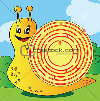 Cartoon Vector Illustration of Education Maze or Labyrinth Game