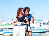 Italian Couple on Scooter