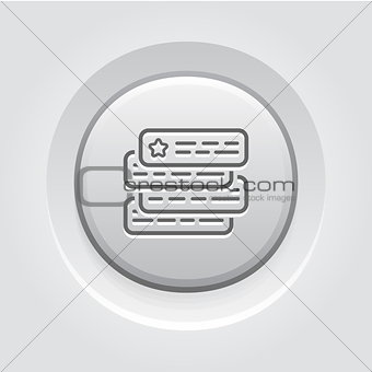 Ad Auction Icon. Flat Design.