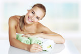 Woman enjoying day spa