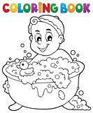 Coloring book baby theme image 3