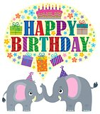 Happy birthday theme with elephants 1