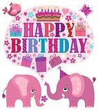 Happy birthday theme with elephants 3