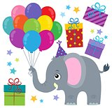 Party elephant theme image 1