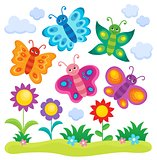 Stylized butterflies theme image 1