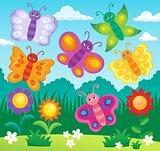 Stylized butterflies theme image 2
