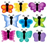Stylized butterflies theme set 2