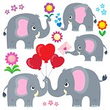 Stylized elephants theme set 4