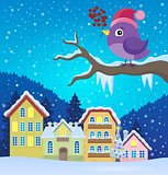 Stylized winter bird theme image 3