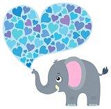 Valentine elephant theme image 1