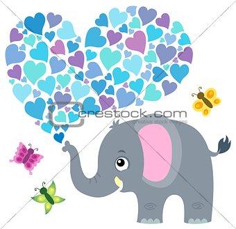 Valentine elephant theme image 3
