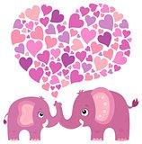 Valentine elephant theme image 4