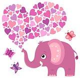 Valentine elephant theme image 5