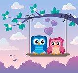 Valentine owls theme image 5